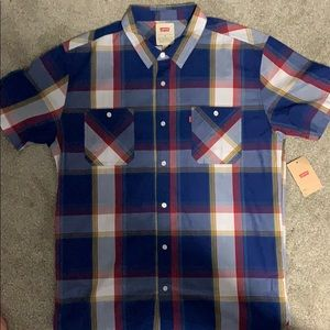 Levi's Button Down Short Sleeve Flannel